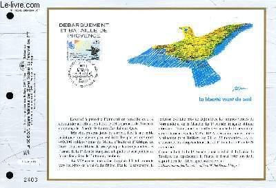 FEUILLET ARTISTIQUE PHILATELIQUE - CEF - N� 1183 - DEBARQUEMENT ET BATAILLE DE PROVENCE