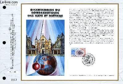 FEUILLET ARTISTIQUE PHILATELIQUE - CEF - N° 1191 - BICENTENAIRE DU CONSERVATOIRE DES ARTS ET METIERS