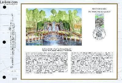 FEUILLET ARTISTIQUE PHILATELIQUE - CEF - N° 1192 - BICENTENAIRE DU PARC DE ST CLOUD