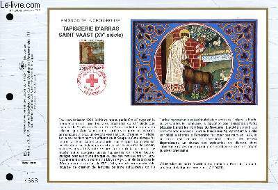 FEUILLET ARTISTIQUE PHILATELIQUE - CEF - N° 1200 - EMISSION DE LA CROIX-ROUGE - TAPISSERIE D'ARRAS SAINT VAAST (15° SIECLES)