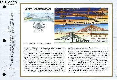 FEUILLET ARTISTIQUE PHILATELIQUE - CEF - N° 1204 - LE PONT DE NORMANDIE