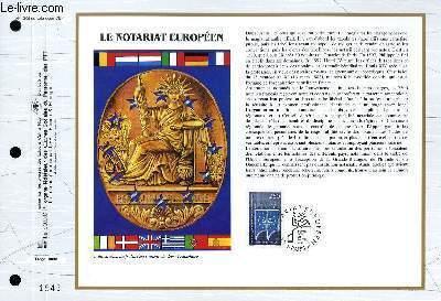 FEUILLET ARTISTIQUE PHILATELIQUE - CEF - N° 1205 - LE NOTARIAT EUROPEEN