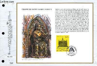 FEUILLET ARTISTIQUE PHILATELIQUE - CEF - N° 1208 - CHASSE DE SAINT-TAURIN EVREUX