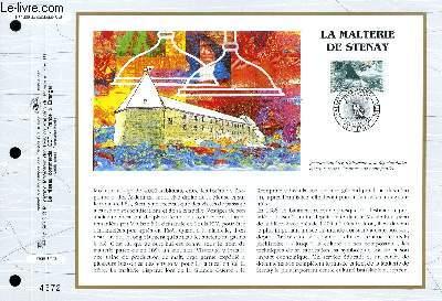 FEUILLET ARTISTIQUE PHILATELIQUE - CEF - N° 1209 - LA MALTERIE DE STENAY
