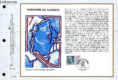 FEUILLET ARTISTIQUE PHILATELIQUE - CEF - N° 1210 - MARIANNE DE GANDON