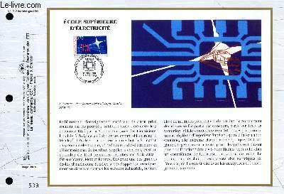FEUILLET ARTISTIQUE PHILATELIQUE - CEF - N° 1212 - ECOLE SUPERIEUR D'ELECTRICITE