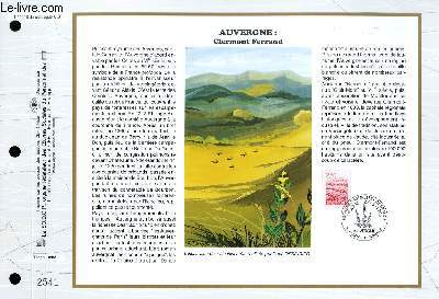 FEUILLET ARTISTIQUE PHILATELIQUE - CEF - N° 1216 - AUVERGNE : CLERMONT-FERRAND