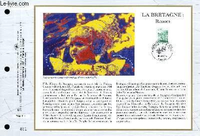 FEUILLET ARTISTIQUE PHILATELIQUE - CEF - N° 1218 - LA BRETAGNE