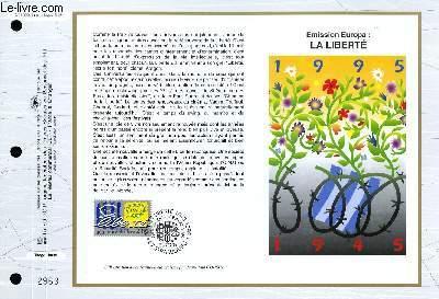 FEUILLET ARTISTIQUE PHILATELIQUE - CEF - N° 1220 - EMISSION EUROPA : LA LIBERTE
