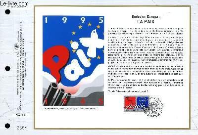 FEUILLET ARTISTIQUE PHILATELIQUE - CEF - N° 1221 - EMISSION EUROPA : LA PAIX