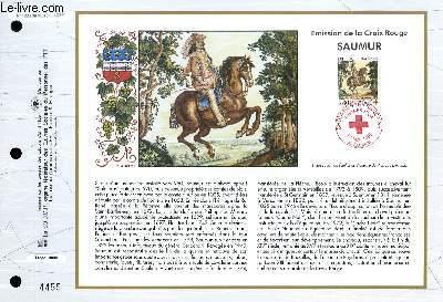 FEUILLET ARTISTIQUE PHILATELIQUE - CEF - N° 1226 - EMISSION DE LA CROIX-ROUGE : SAUMUR