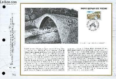 FEUILLET ARTISTIQUE PHILATELIQUE - CEF - N° 1229 - PONT ROMAN DE NYONS