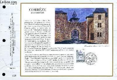 FEUILLET ARTISTIQUE PHILATELIQUE - CEF - N° 1230 - CORREZE EN CORREZE