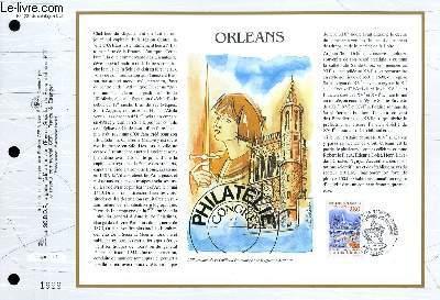 FEUILLET ARTISTIQUE PHILATELIQUE - CEF - N° 1231 - ORLEANS