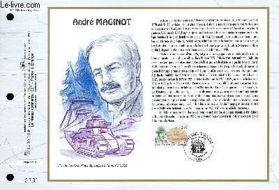 FEUILLET ARTISTIQUE PHILATELIQUE - CEF - N° 1235 - ANDRE MAGINOT