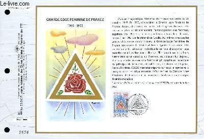 FEUILLET ARTISTIQUE PHILATELIQUE - CEF - N� 1236 - GRANDE LOGE FEMININE DE FRANCE 1945-1955