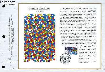FEUILLET ARTISTIQUE PHILATELIQUE - CEF - N° 1237 - PHARMACIE HOSPITALIERE 1495-1995