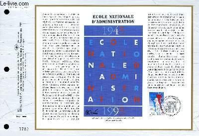 FEUILLET ARTISTIQUE PHILATELIQUE - CEF - N° 1241 - ECOLE NATIONALE D'ADMINISTRATION
