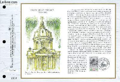 FEUILLET ARTISTIQUE PHILATELIQUE - CEF - N° 1242 - INSTITUT DE FRANCE 1795-1995