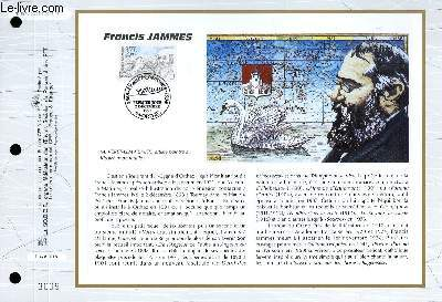 FEUILLET ARTISTIQUE PHILATELIQUE - CEF - N� 1246 - FRANCIS JAMMES