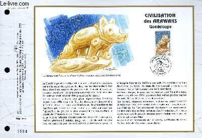 FEUILLET ARTISTIQUE PHILATELIQUE - CEF - N° 1251 - CIVILISATION DES ARAWAKS - GUADELOUPE