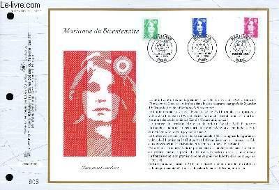 FEUILLET ARTISTIQUE PHILATELIQUE - CEF - N° 1257 - MARIANNE DU BICENTENAIRE