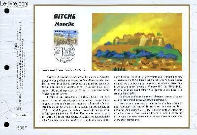 FEUILLET ARTISTIQUE PHILATELIQUE - CEF - N° 1267 - BITCHE MOSELLE