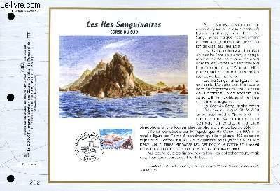 FEUILLET ARTISTIQUE PHILATELIQUE - CEF - N° 1275 - LES ILES SANGUINAIRES - CORSE DU SUD