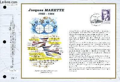FEUILLET ARTISTIQUE PHILATELIQUE - CEF - N� 1278 - JACQUES MARETTE 1922-1984