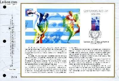 FEUILLET ARTISTIQUE PHILATELIQUE - CEF - N° 1279 - CENTENAIRE DES J.O. 1896-1996
