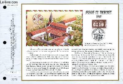 FEUILLET ARTISTIQUE PHILATELIQUE - CEF - N° 1281 - ABBAYE DU THORONET VAR