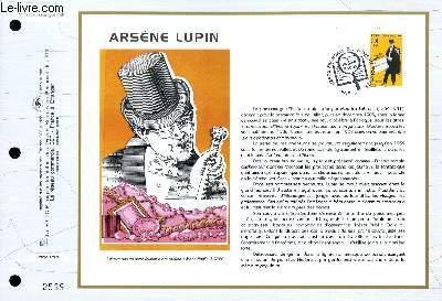 FEUILLET ARTISTIQUE PHILATELIQUE - CEF - N° 1285 - ARSENE LUPIN