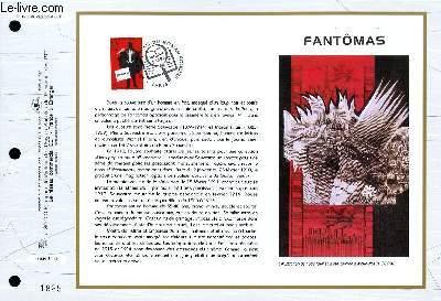 FEUILLET ARTISTIQUE PHILATELIQUE - CEF - N° 1286 - FANTOMAS
