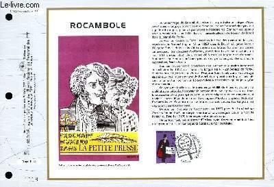 FEUILLET ARTISTIQUE PHILATELIQUE - CEF - N° 1287 - ROCAMBOLE