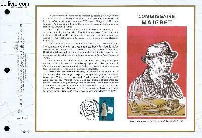 FEUILLET ARTISTIQUE PHILATELIQUE - CEF - N° 1289 - COMMISSAIRE MAIGRET