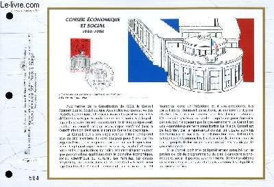 FEUILLET ARTISTIQUE PHILATELIQUE - CEF - N� 1293 - CONSEIL ECONOMIQUE ET SOCIAL 1946-1996