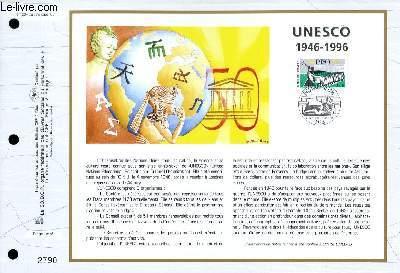 FEUILLET ARTISTIQUE PHILATELIQUE - CEF - N° 1294 - UNESCO 1946-1996