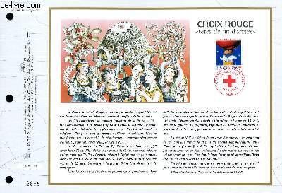 FEUILLET ARTISTIQUE PHILATELIQUE - CEF - N° 1296 - CROIX ROUGE - FETE DE FIN D'ANNEE
