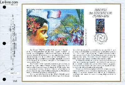 FEUILLET ARTISTIQUE PHILATELIQUE - CEF - N° 1297 - CREATION DES DEPARTEMENT D'OUTRE-MER