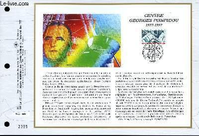 FEUILLET ARTISTIQUE PHILATELIQUE - CEF - N° 1303 - CENTRE GEORGES POMPIDOU 1977-1997