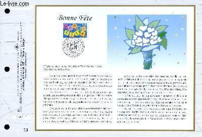 FEUILLET ARTISTIQUE PHILATELIQUE - CEF - N° 1305 - BONNE FETE