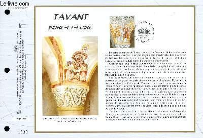 FEUILLET ARTISTIQUE PHILATELIQUE - CEF - N° 1309 - TAANT - INDRE ET LOIRE