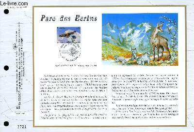 FEUILLET ARTISTIQUE PHILATELIQUE - CEF - N° 1313 - PARC DES ECRINS