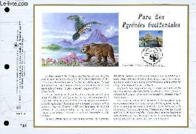 FEUILLET ARTISTIQUE PHILATELIQUE - CEF - N° 1314 - PARC DES PYRENEES OCCIDENTALES