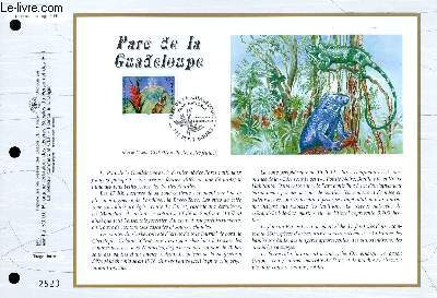 FEUILLET ARTISTIQUE PHILATELIQUE - CEF - N° 1316 - PARC DE LA GUADELOUPE