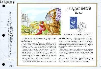 FEUILLET ARTISTIQUE PHILATELIQUE - CEF - N° 1317 - LE CHAT BOTTE - EUROPA