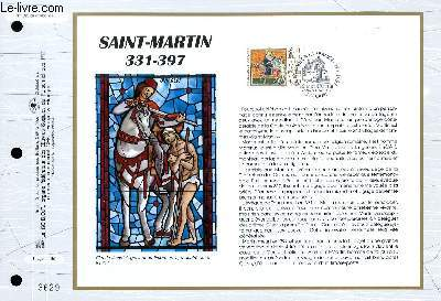 FEUILLET ARTISTIQUE PHILATELIQUE - CEF - N° 1328 - SAINT-MARTIN 331-397