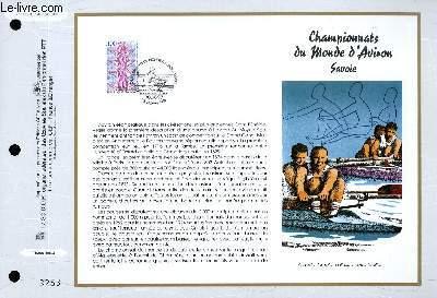 FEUILLET ARTISTIQUE PHILATELIQUE - CEF - N° 1331 - CHAMPIONNATS DU MONDE D'AVIRON - SAVOIE