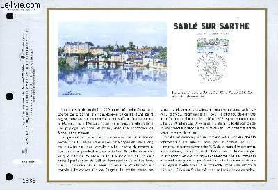 FEUILLET ARTISTIQUE PHILATELIQUE - CEF - N° 1333 - SABLE SUR SARTHE