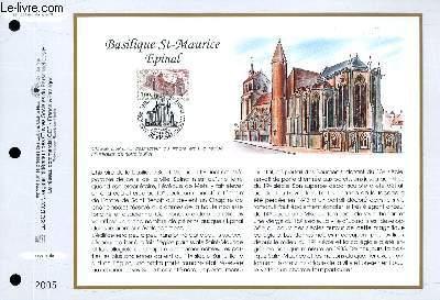 FEUILLET ARTISTIQUE PHILATELIQUE - CEF - N° 1334 - BASILISIQUE ST MAURICE EPINAL